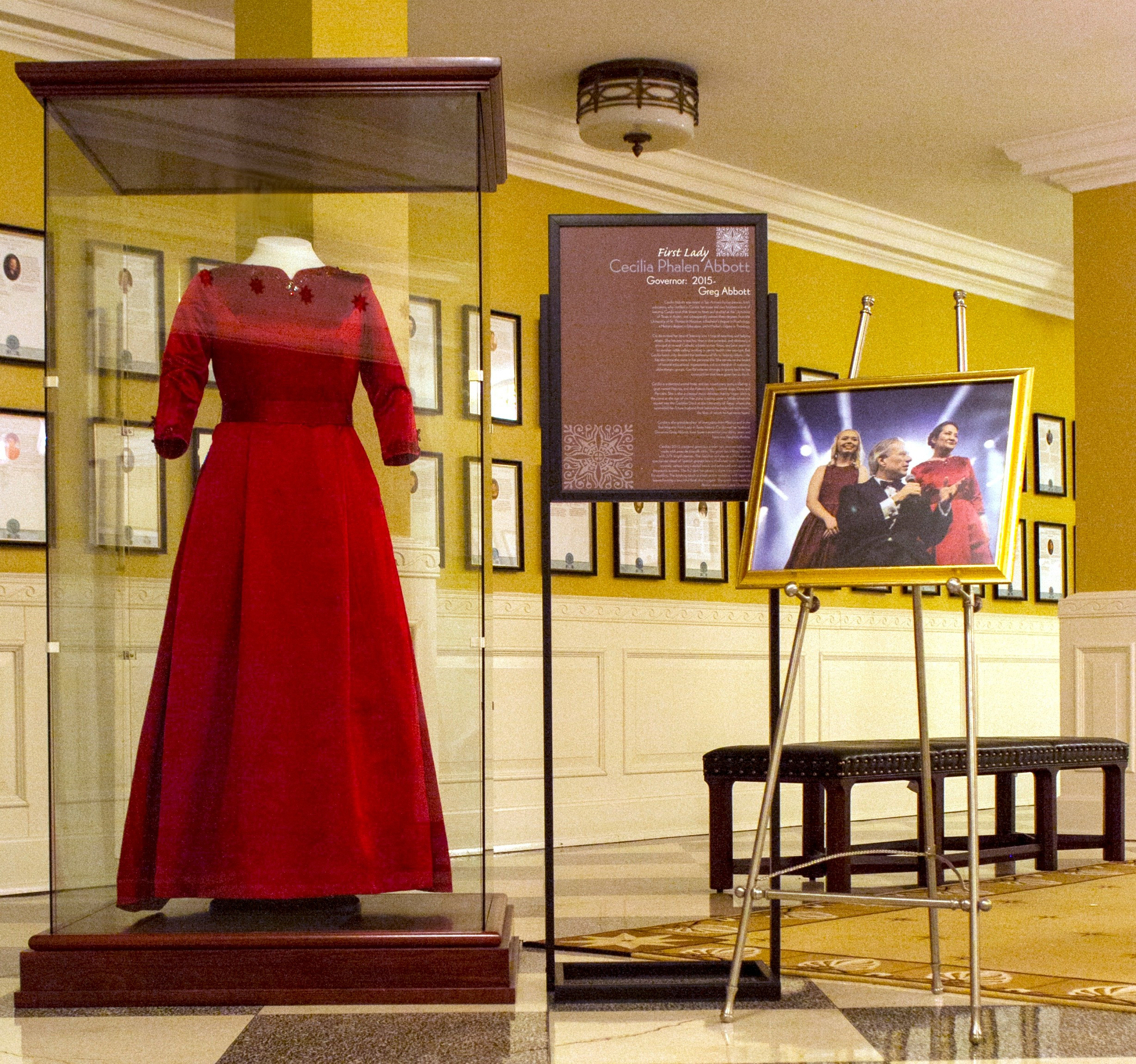 It is such a privilege to have my gown join others worn by former Texas  First Ladies and other notable Texas women as part of the collection. 59a3d21f7