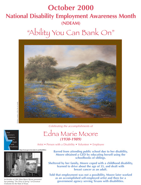 2000 NDEAM Poster Winner: 'The Glory of Spring' by Edna Marie Moore