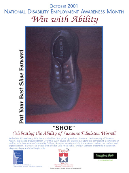 2001 NDEAM Poster Winner: 'Shoe' by Suzanne Edmiston Worrell