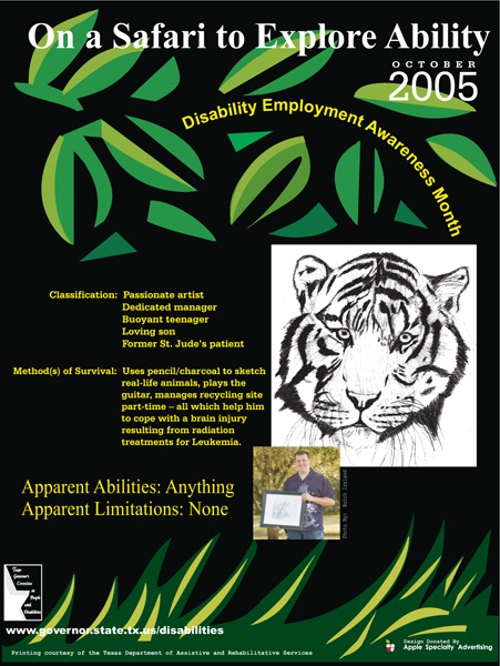 2005 NDEAM Poster Winner: 'On a Safari to Explore Ability' by Chace George