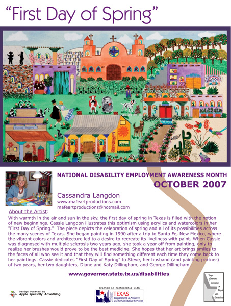 2007 NDEAM Poster Winner: 'First Day of Spring' by Cassandra Langdon