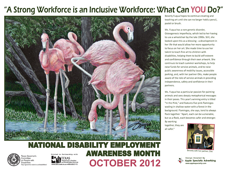 2012 NDEAM Poster - In the Pink by Beverly Fuqua