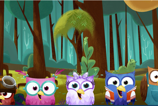 Animated owls