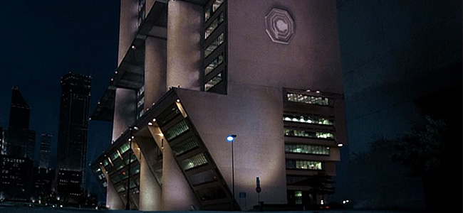 Robocop Still of Dallas City Hall
