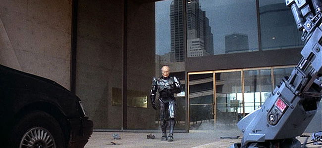 Peter Weller as Robocop at Dallas City Hall