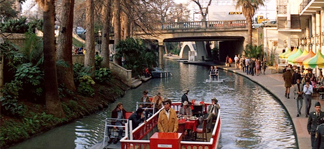 Still from 'The Getaway' at the San Antonio Riverwalk