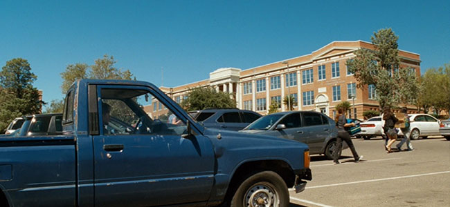 Sul Ross State University Exterior with Attendees and Cars