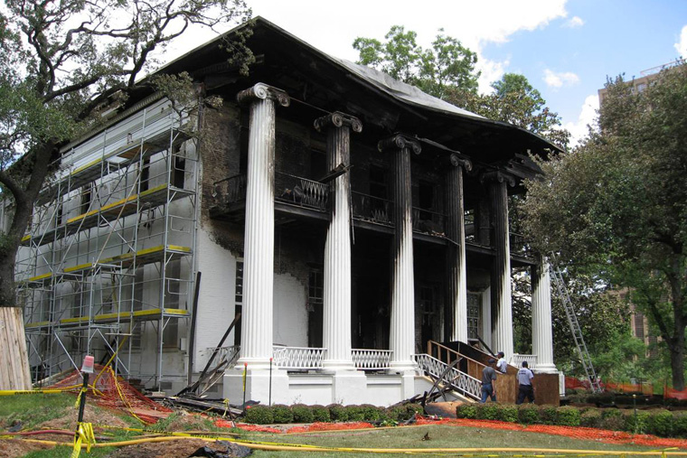 Mansion Damaged by Arson on June 8, 2008