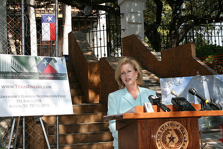 First Lady Anita Perry Announces the Texas Governor's Mansion Restoration Fund