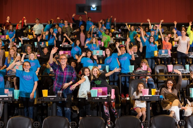 Girls having a great time at a Google-Girlstart event
