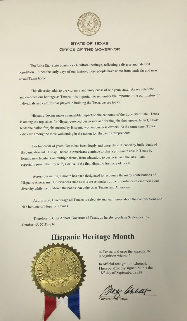 2018 Hispanic Heritage Month