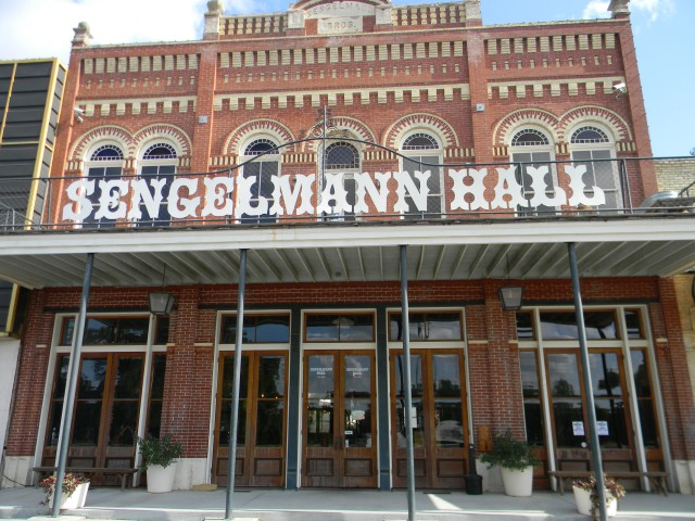 Exterior of Sengelmann Hall in Schulenburg