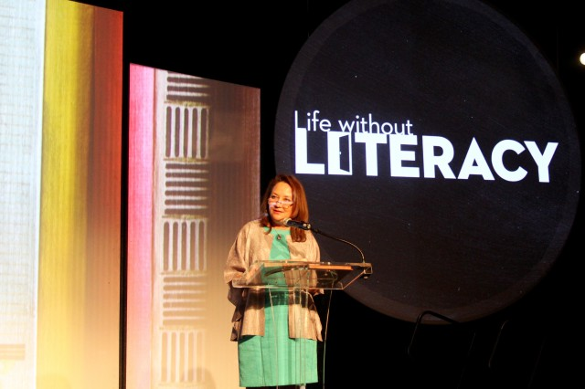 Texas First Lady, Cecilia Abbott, Speaks at the Life Without Literacy event