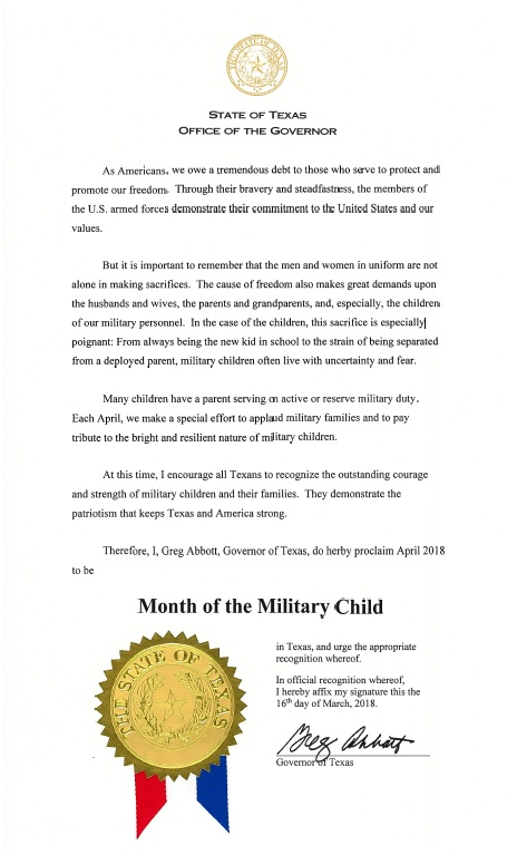 Month of the Military Child Proclamation