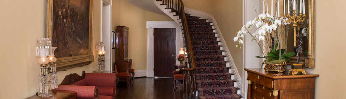Front Entry Hall and Main Staircase of the Texas Governor's Mansion