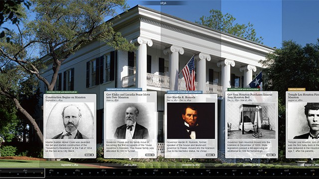 Timeline explaining history of the Governor's Mansion