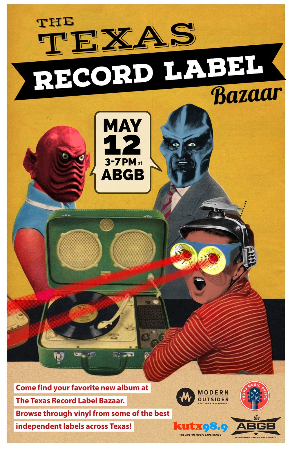 texas record label bazaar poster