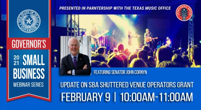 Feb 9th Shuttered Venue Operators Grant webinar