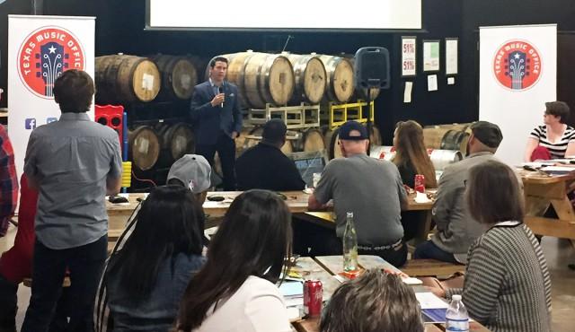 Brendon Anthony speaking at the San Antonio MFC workshop
