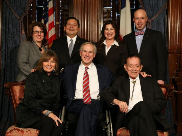 Gov. Abbott with Texas Chapter of the Recording Academy