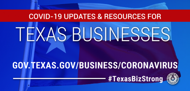 Texas Businesses COVID-19 graphic image