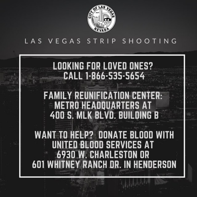 Las Vegas Strip Info to Help the Victims