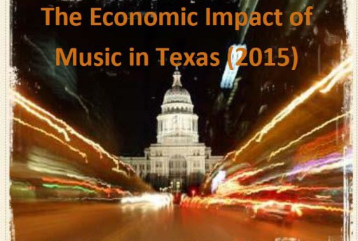 Photo of the cover of the Economic Impact Study commissioned by the Texas Music Office.