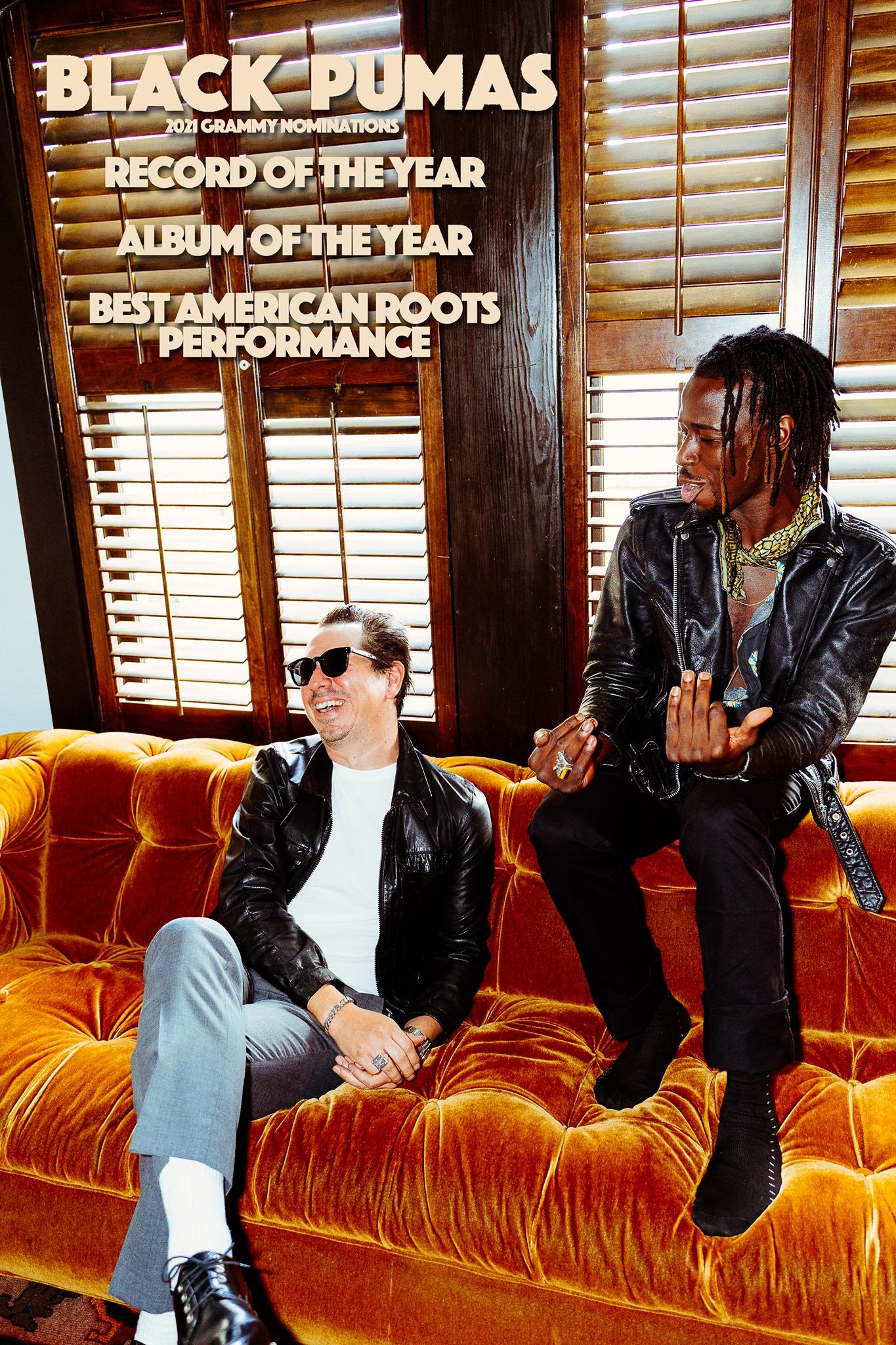 Black Pumas, 2021 Grammy nominees!
