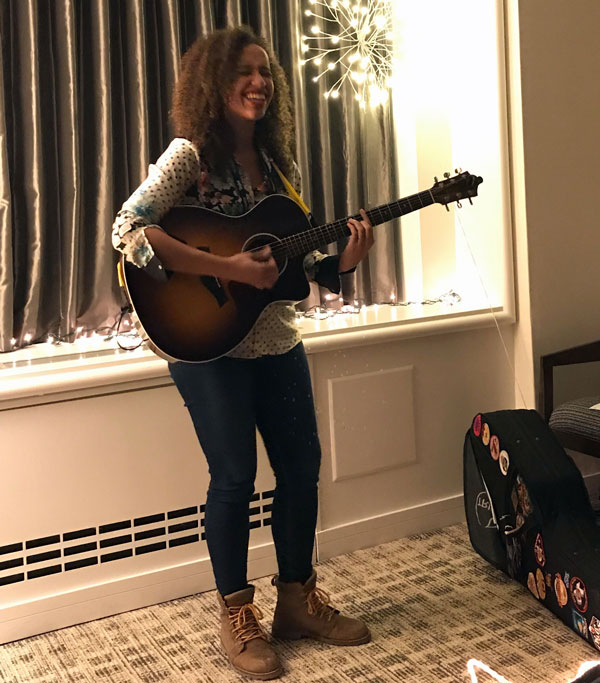 Jackie Venson at 2019's Folk Alliance International Conference in Canada