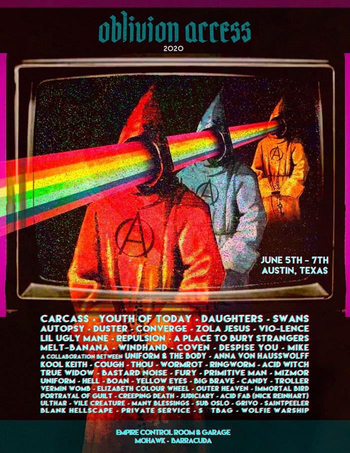 Oblivion Access Festival poster