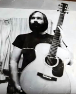 photo of Bill Collings in the early days of Collings Guitars