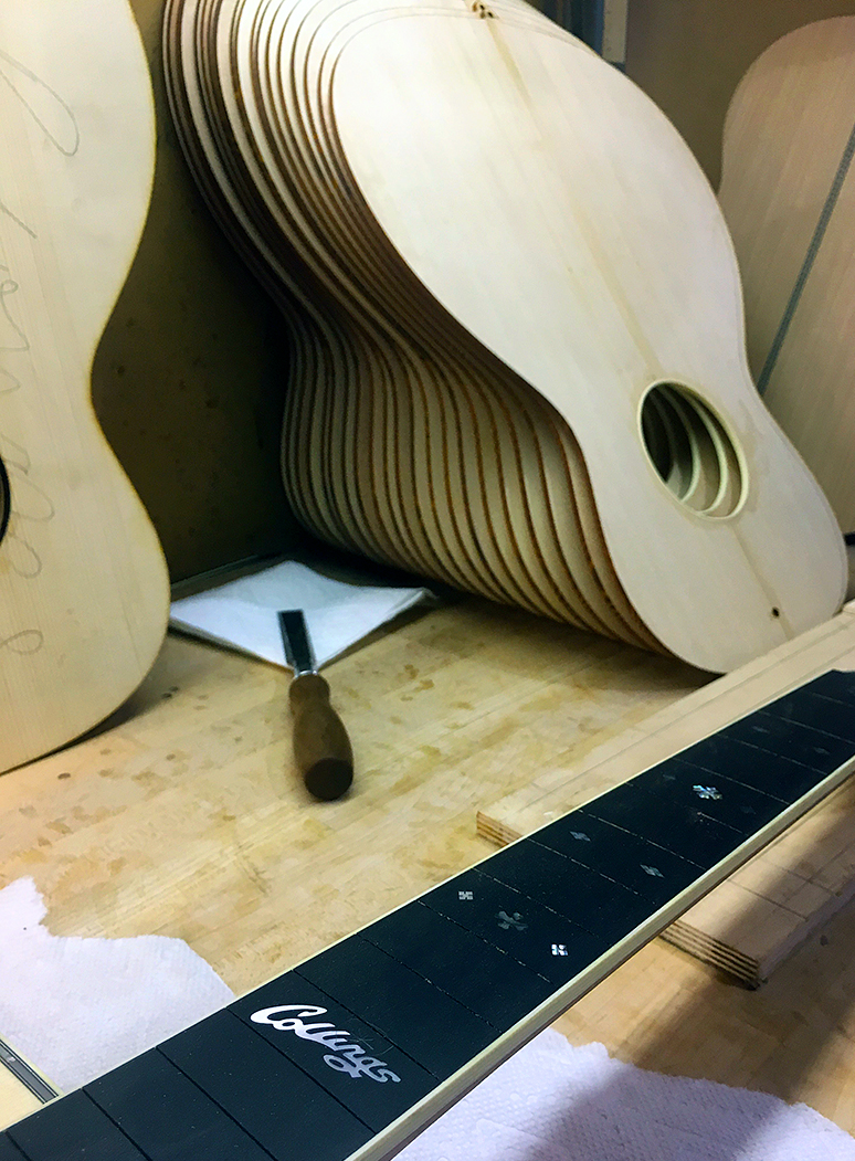 Guitars pre-assembly