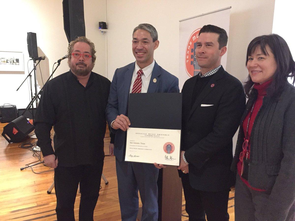 San Antonio receives Music Friendly Community certification