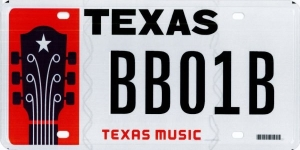 Texas Music license plate - image
