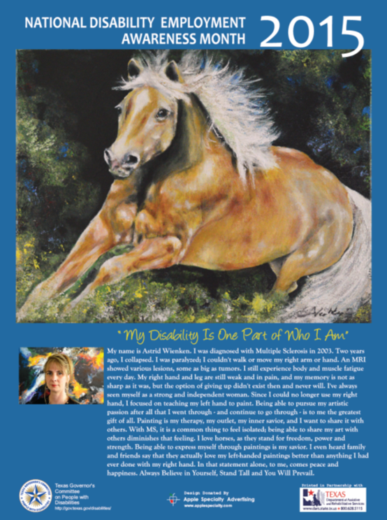 "2015 NDEAM Poster - ""The True Essence of Strength and Freedom"" by Astrid Wienken"