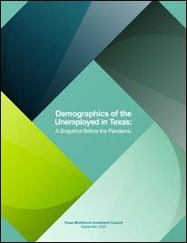 Cover of Demographics of the Unemployed in Texas: A Snapshot Before the Pandemic