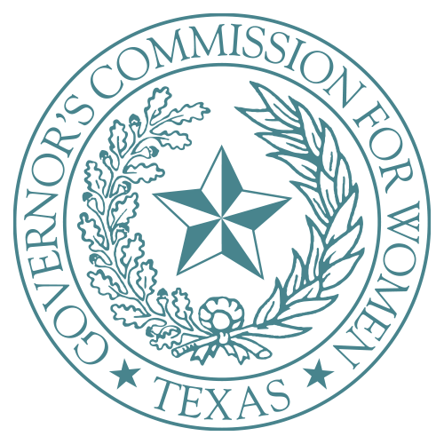 Seal of the Texas Governors Commission for Women