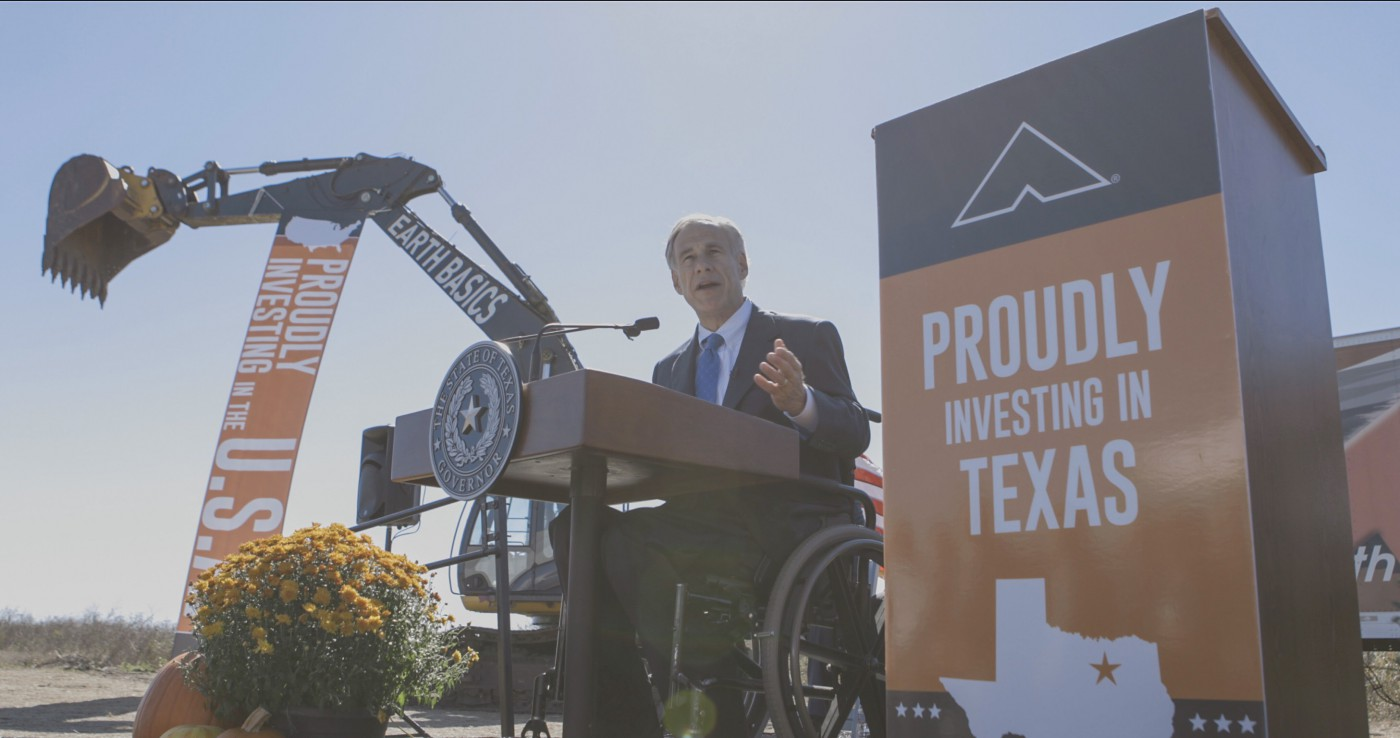 Governor Abbott Attends Groundbreaking Ceremony For New Ashley