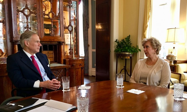 Governor Abbott meets with Small Business Administration Linda McMahon.