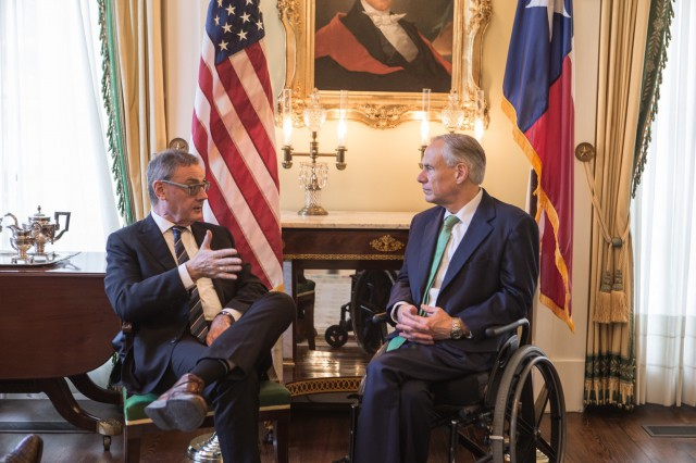 Governor Abbott Meets With Ambassador Of The European Union To The United States David O'Sullivan Image