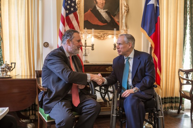 Governor Abbott Meets With Ambassador Of The Netherlands To The United States Henne Schuwer Image