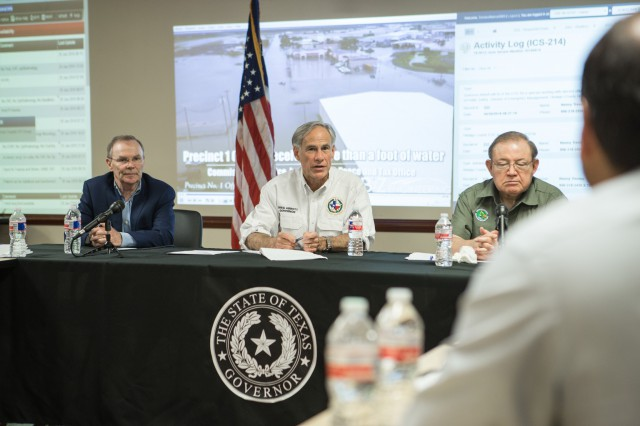 Gov. Abbott requested a federal disaster declaration for the recent severe weather and flooding in the Rio Grande Valley while meeting with officials.