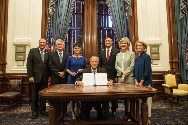 Governor Abbott presents signed legislation to further protect life in Texas.