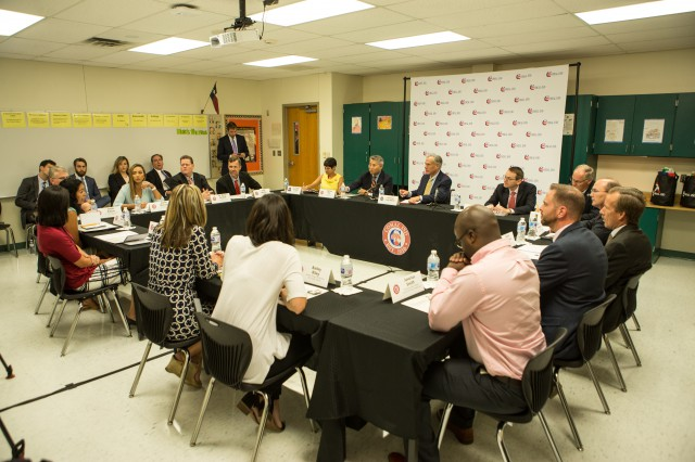 Governor Abbott Hosts Education Roundtable At Church Hill Middle School Image