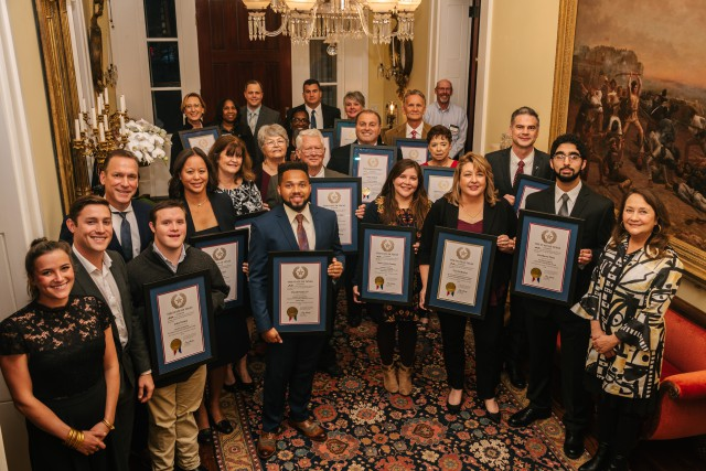 First Lady Cecilia Abbott Honors Winners Of The 2018 Governor's Volunteer Awards Image