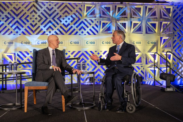Governor Abbott Participates In Fireside Chat At U.S. Chamber of Commerce Committee Meeting Image