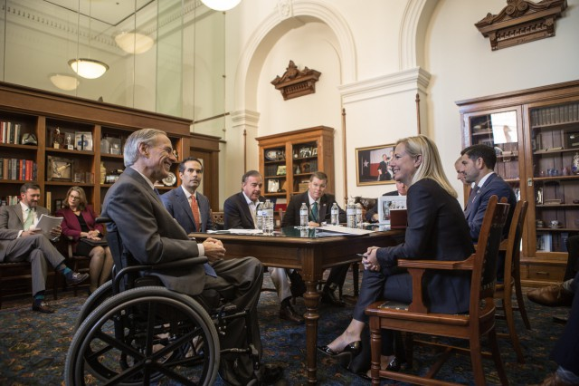 Governor Abbott and Secretary Nielsen discuss the ongoing recovery efforts following Hurricane Harvey.