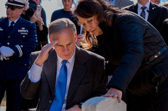 Governor Abbott Participates In Wreaths Across America Ceremony At Texas State Cemetery Image