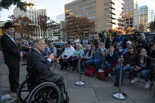 Governor Abbott Attends Texas Capitol Menorah Lighting Ceremony Image