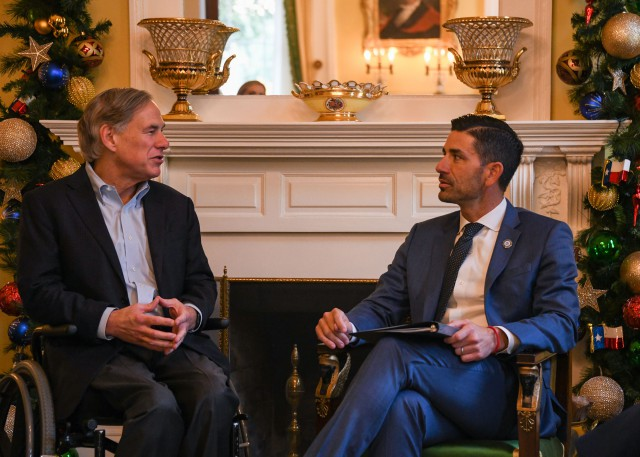 Governor Abbott Meets With DHS Acting Secretary Chad Wolf In Austin